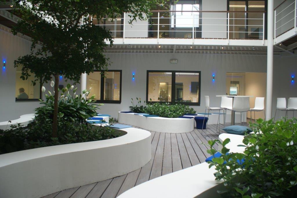 Jardin d 39 int rieur chez biocartis r alis par any green for Jardin d interieur