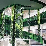 Green Colums: hanging gardens with an automatic irrigation system